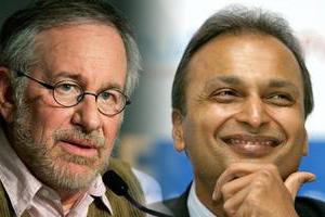 Anil Ambani and Steven Spielberg