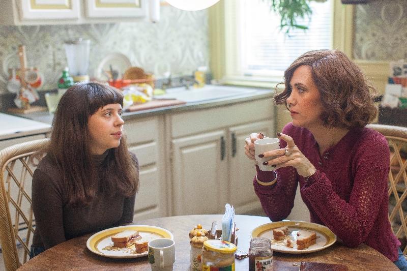 Left to right: Bel Powley as Minnie Goetze and Kristen Wiig as Charlotte Goetze